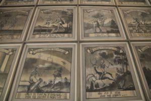 Deckengemälde der Totentanzkapelle in Wondreb